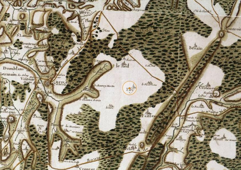 Carte de Fay Cassini  XVIIIe siècle