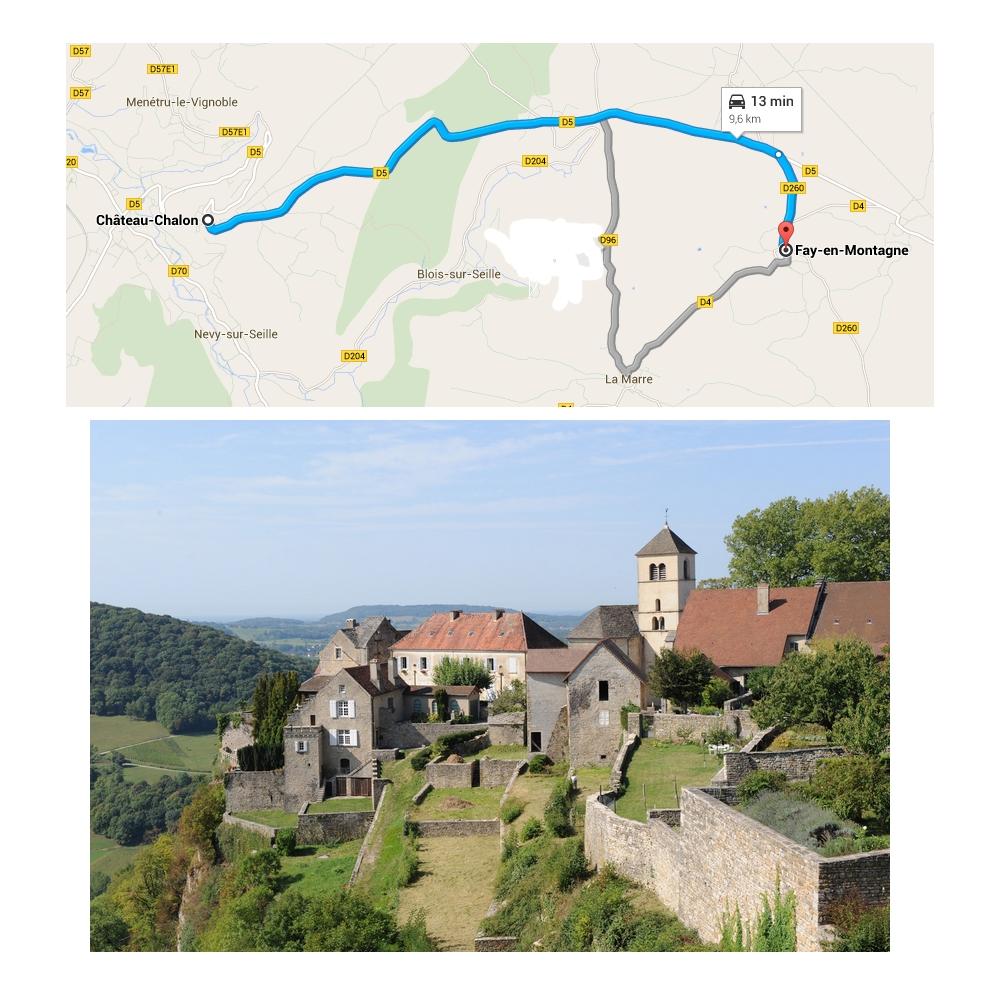 Itineraire chateau chalon